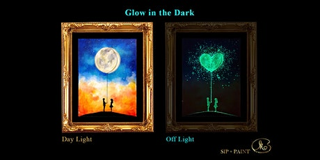 Sip and Paint (Glow in the Dark): The Moon Represents My Heart (8pm Sat) tickets