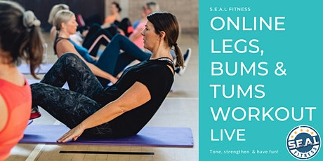 Online Legs, Bums & Tums Workout Live tickets