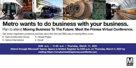 Moving Business To The Future: Meet the Primes Virtual Conference. tickets