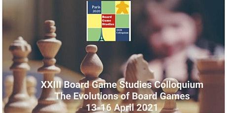 23rd Board Game Studies Colloquium Paris - 13-16 April 2021 tickets