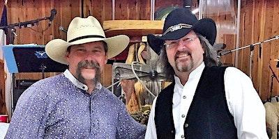 David Wayne and Doc Williams at Singing Water Vineyards