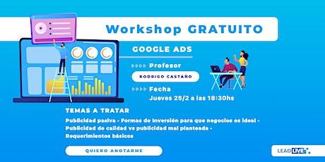 """Workshop Gratuito """" 8 Principios Básicos de Google Ads"""" tickets"""