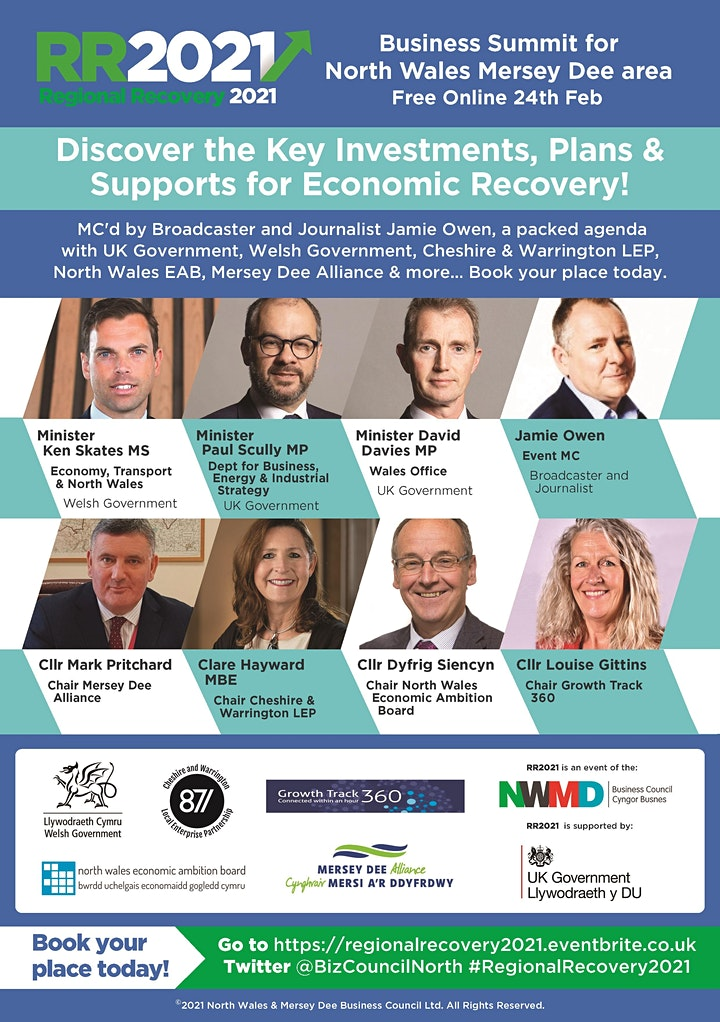 Regional Recovery  2021 - North Wales  Mersey Dee Business Summit image