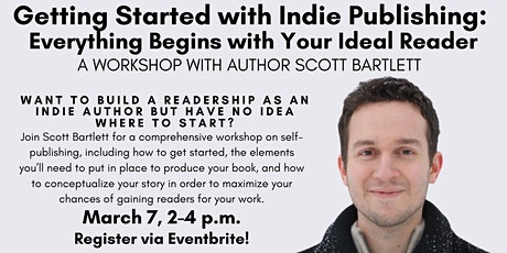 """Getting Started with Indie Publishing"" with author Scott Bartlett! tickets"