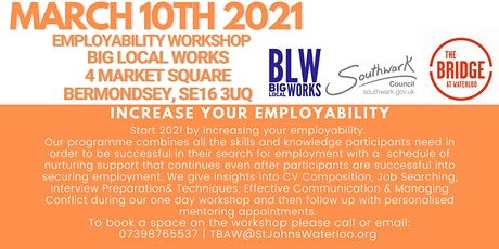 EMPLOYABILITY ENHANCING WORKSHOP By Big Local Works & Empowerment People tickets