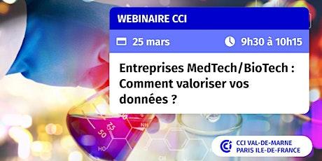 Entreprises MedTech/BioTech :  comment valoriser vos données ? billets