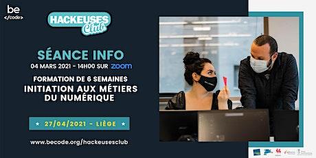 BeCode Liège - Séance info Hackeuses Club billets