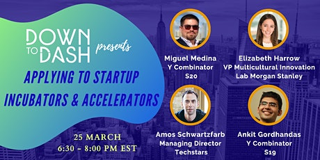 Applying to Startup Incubators & Accelerators tickets
