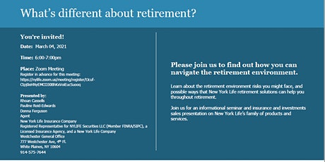 What's Different About Retirement? entradas