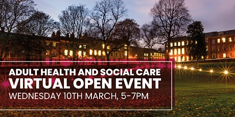 Adult Health and Social Care Virtual Open Event at Preston's College tickets