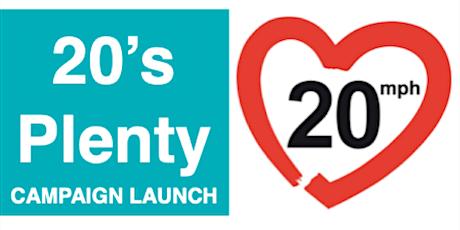 20s Plenty Campaign Launch tickets