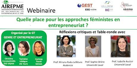 Quelle place pour les approches féministes en entrepreneuriat? billets
