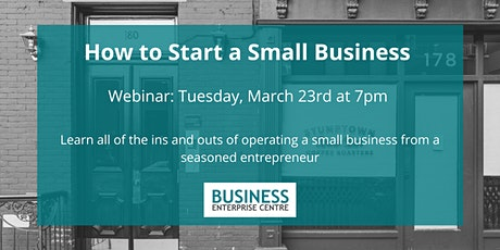 How to Start a Small Business tickets