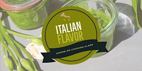 Online Class:  Italian Flavor Hands-On Cooking Class tickets