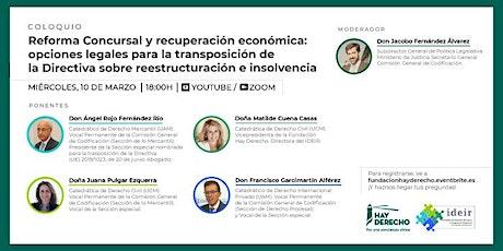 Webinar: Reforma concursal y recuperación económica. entradas