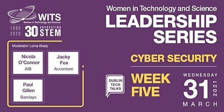 WITS Female Leadership Series 2021-  Session 5 Cyber Security tickets