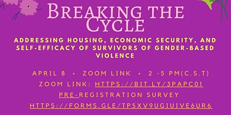 Breaking the Cycle of Violence-The needs of Housing and Employment tickets