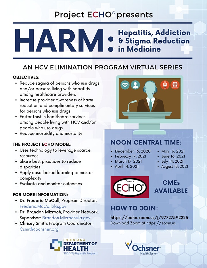 Free CME - Hepatitis, Addiction, and Harm Reduction in Medicine (H.A.R.M.) image