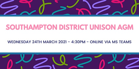 Southampton District UNISON AGM - 2nd Date tickets