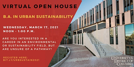B.A. in Urban Sustainability Open House tickets