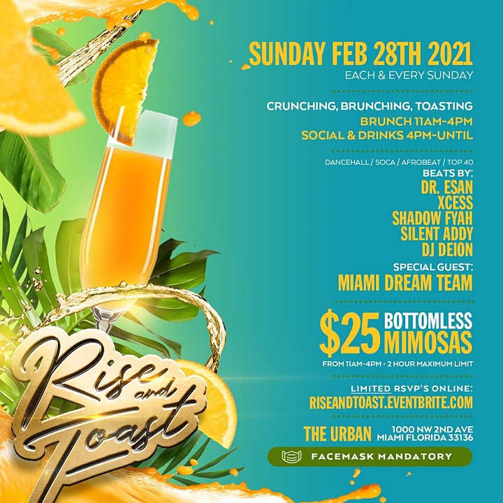 RISE AND TOAST #1 CARIBBEAN SUNDAY BRUNCH   THE URBAN image