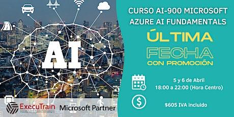 CURSO AI900 MICROSOFT AZURE AI FUNDAMENTALS boletos