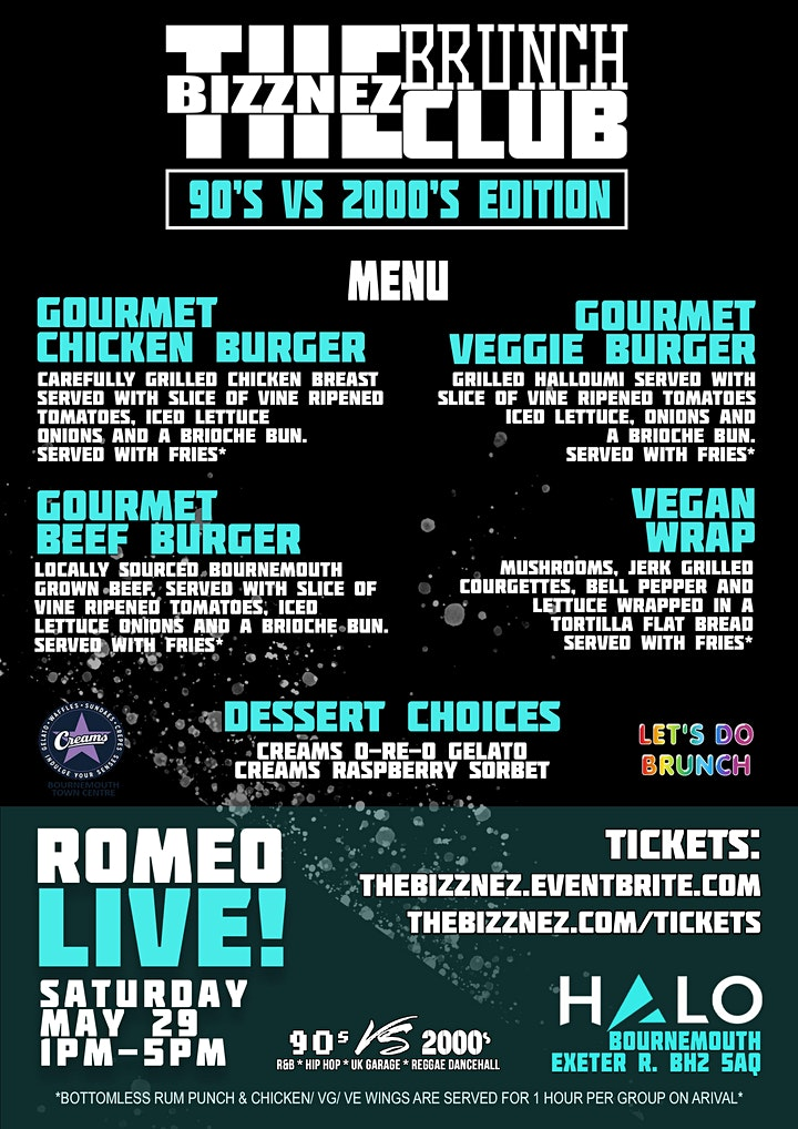 The Bizznez Brunch Club, 90s vs 00s Edition | Saturday May 29 image