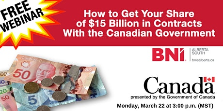 Doing Business with the Canadian Government: Finding Opportunities tickets