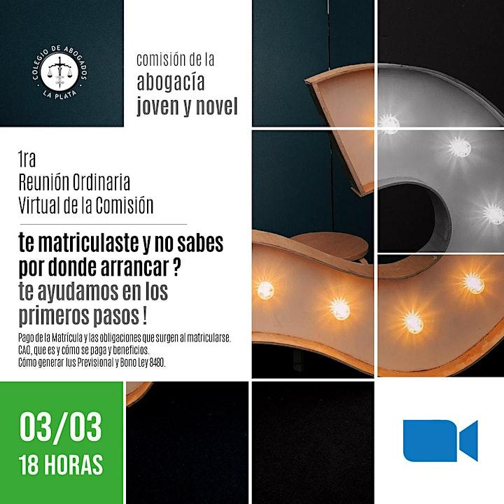 Imagen de 1ra.  Reunión Ordinaria Virtual de la Comisión de la Abogacía Novel y Joven