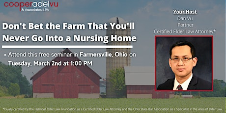 Don't Bet the Farm That You'll Never Go Into a Nursing Home tickets