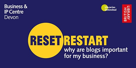 Reset. Restart: Why are blogs important for my business? - Francesca Mapp tickets