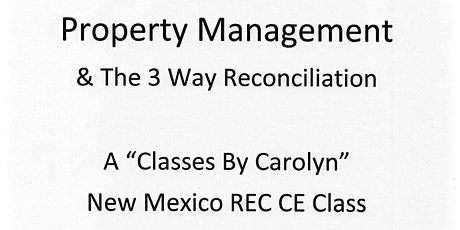 Property Management & The 3 Way Reconciliation tickets