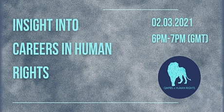 Insight into Careers in Human Rights tickets