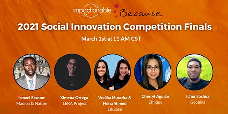 The 2021 Social Innovation Competition Finals tickets