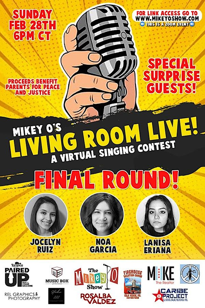 Mikey O's Living Room Live Singing Contest image