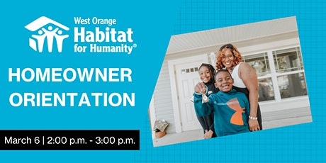 Homeowner Orientation - West Orange Habitat for Humanity tickets