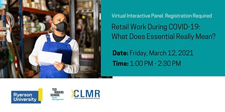 Retail Work During COVID-19: What Does Essential Really Mean? tickets