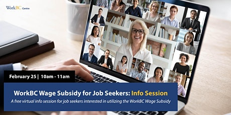 WorkBC Wage Subsidy for Job Seekers: Info Session tickets