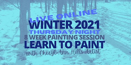 Thursday Night Live Painting Sessions - Winter 2021 tickets