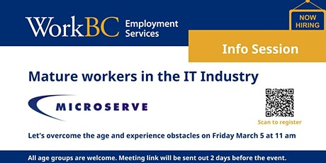 Virtual Employer Information Session - Microserve tickets