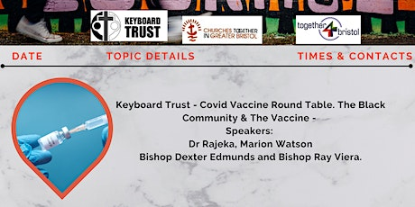 Covid Vaccine Round Table - The Black Community & The Vaccine tickets