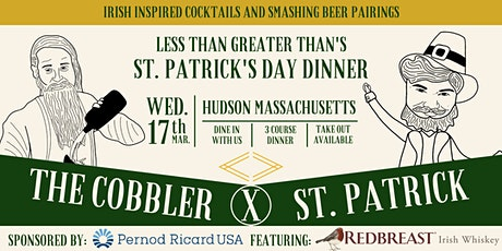 St Patrick's Day Dinner @  Less Than Greater Than tickets