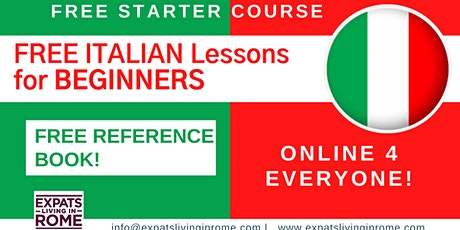 FREE ITALIAN Lessons for BEGINNERS | Starter course tickets