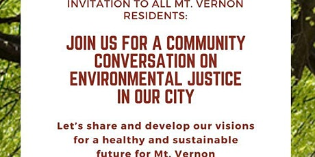 Community Conversation on Environmental Justice Tickets