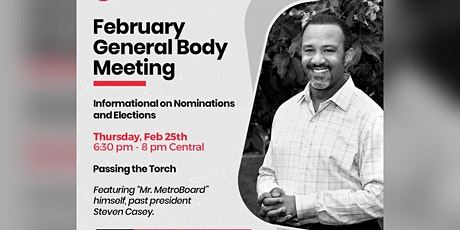 February General Body Meeting: Passing the Torch tickets