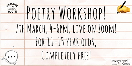 Telegraph Hill Centre Presents: Poetry Workshop! tickets
