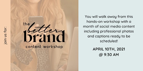 The Better Content Workshop tickets