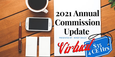 VIRTUAL: 2021 Annual Commission Update Course tickets