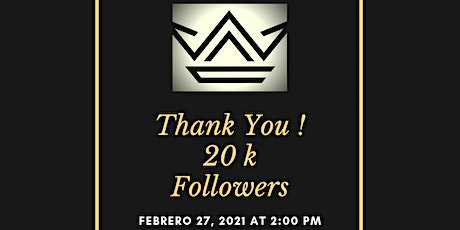 Thank You!  20K Followers tickets