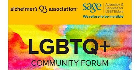 Alzheimer's Association + SAGE LGBTQ Virtual Community Forum tickets